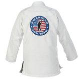 White gi Back jacket