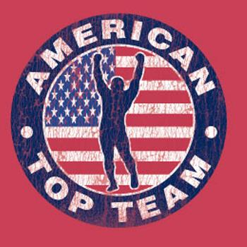 Original Logo T-shirt RED (Distressed) - American Top Team